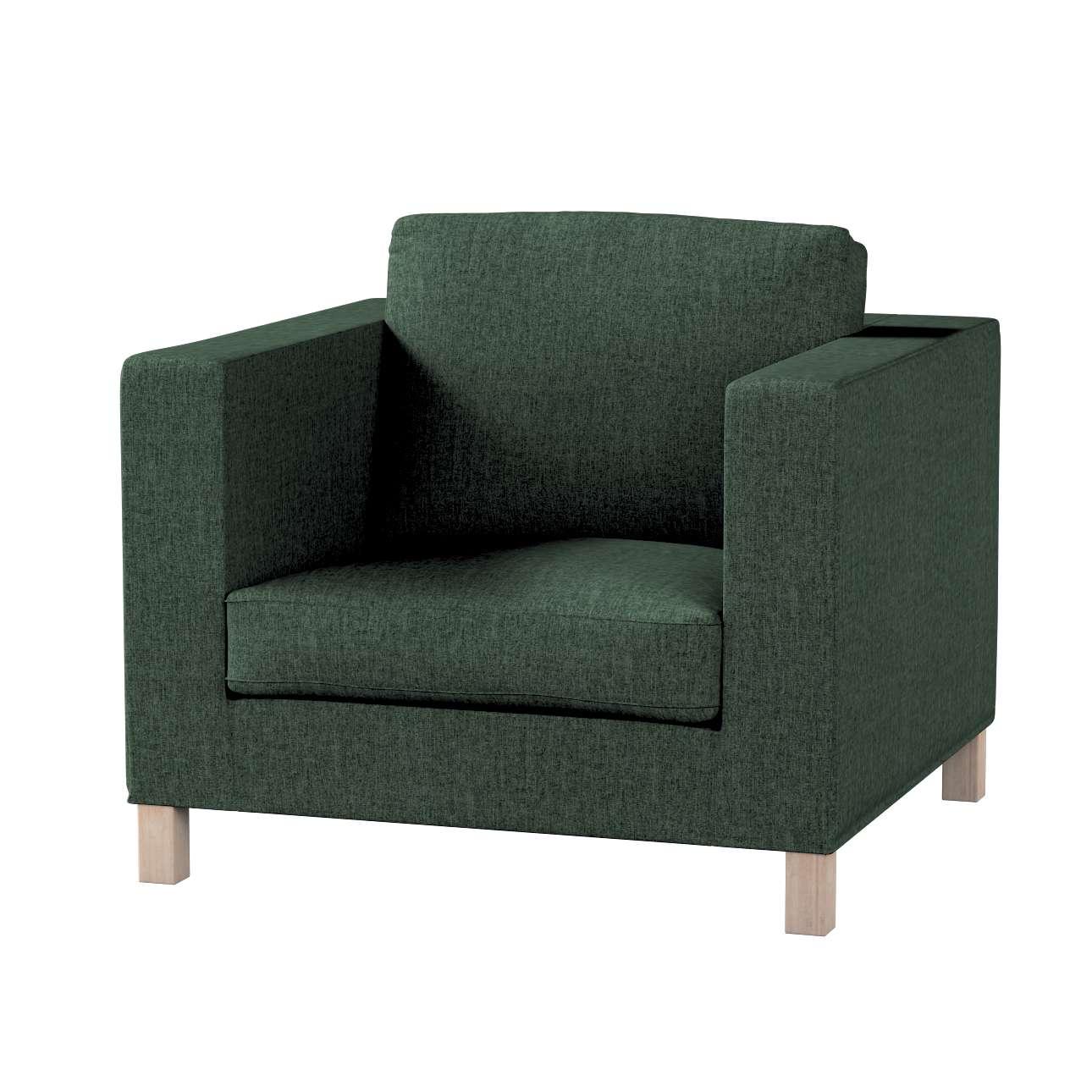 Pokrowiec na fotel Karlanda, krótki w kolekcji City, tkanina: 704-81