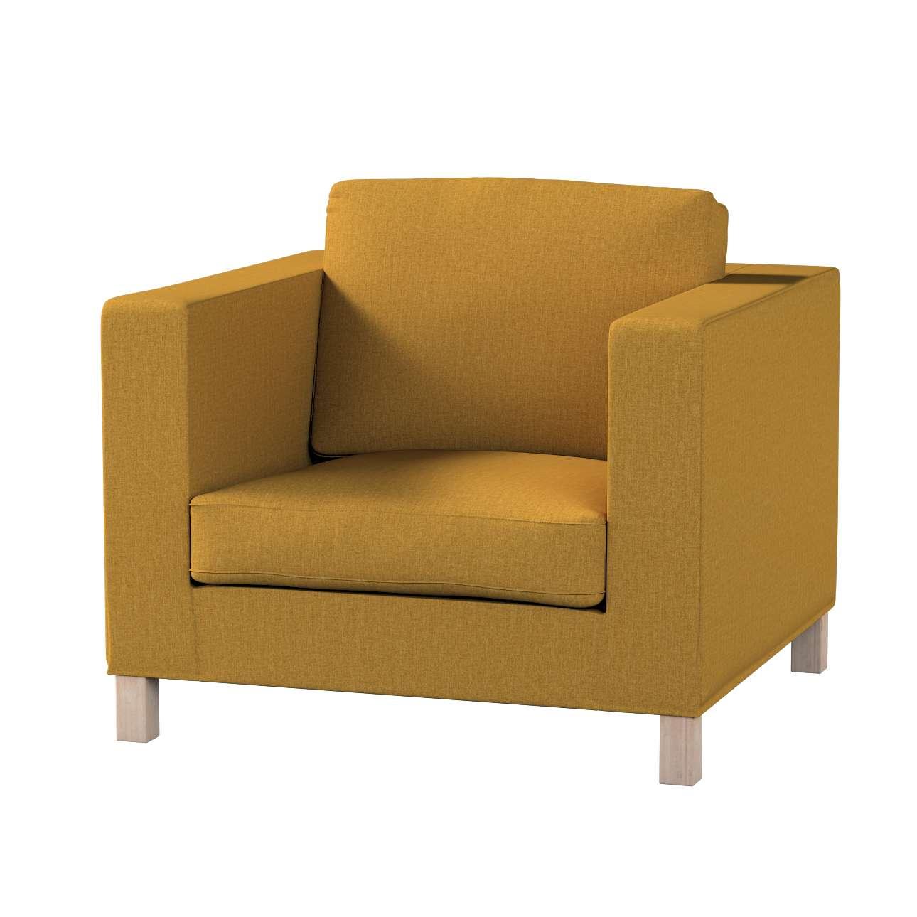 Pokrowiec na fotel Karlanda, krótki w kolekcji City, tkanina: 704-82