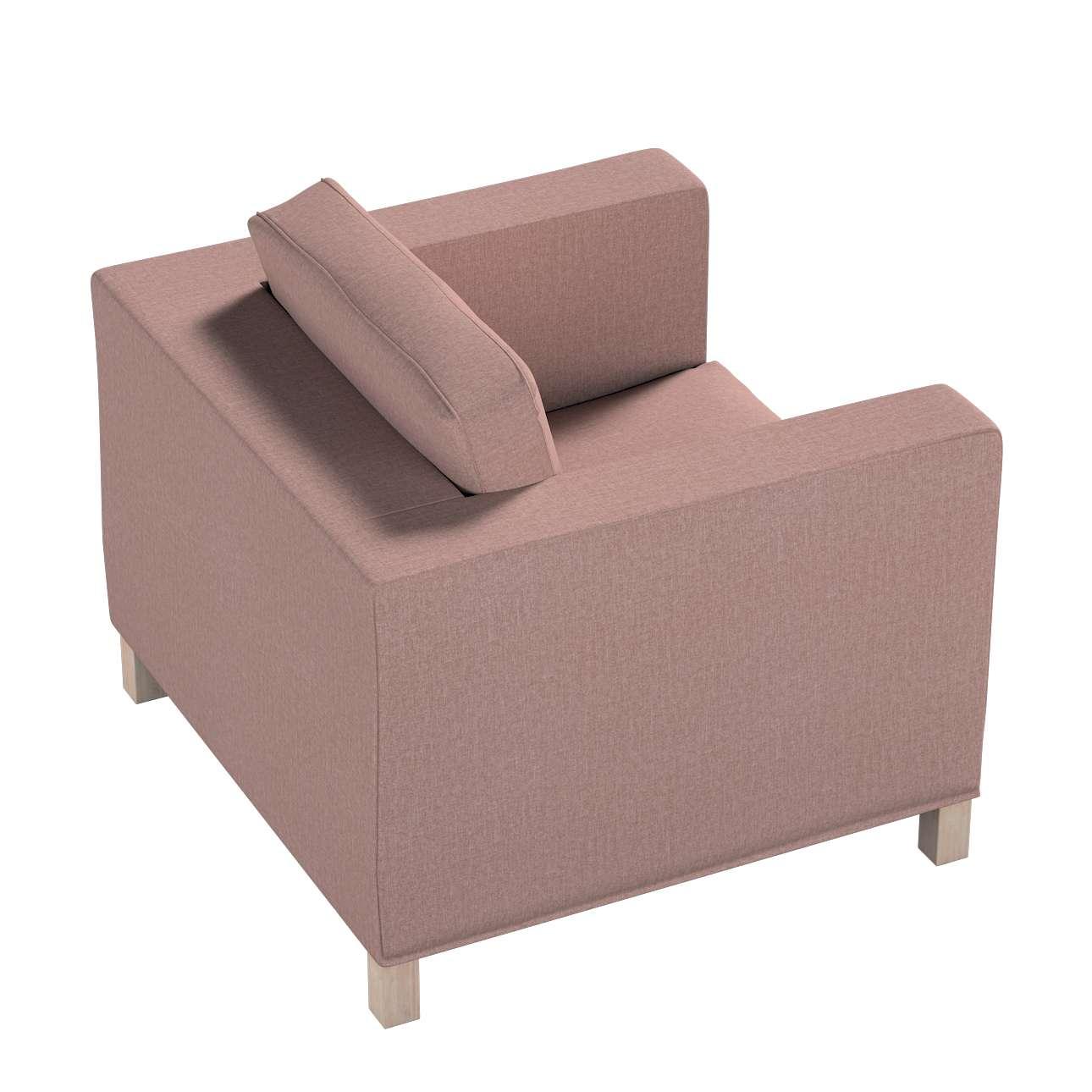 Pokrowiec na fotel Karlanda, krótki w kolekcji City, tkanina: 704-83