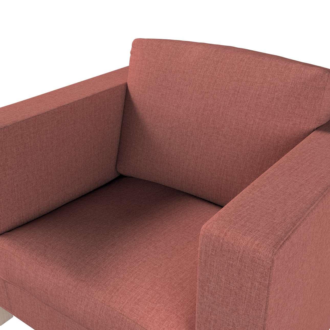 Pokrowiec na fotel Karlanda, krótki w kolekcji City, tkanina: 704-84