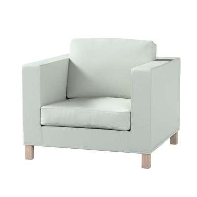 Pokrowiec na fotel Karlanda, krótki 161-41 szara plecionka Kolekcja Living