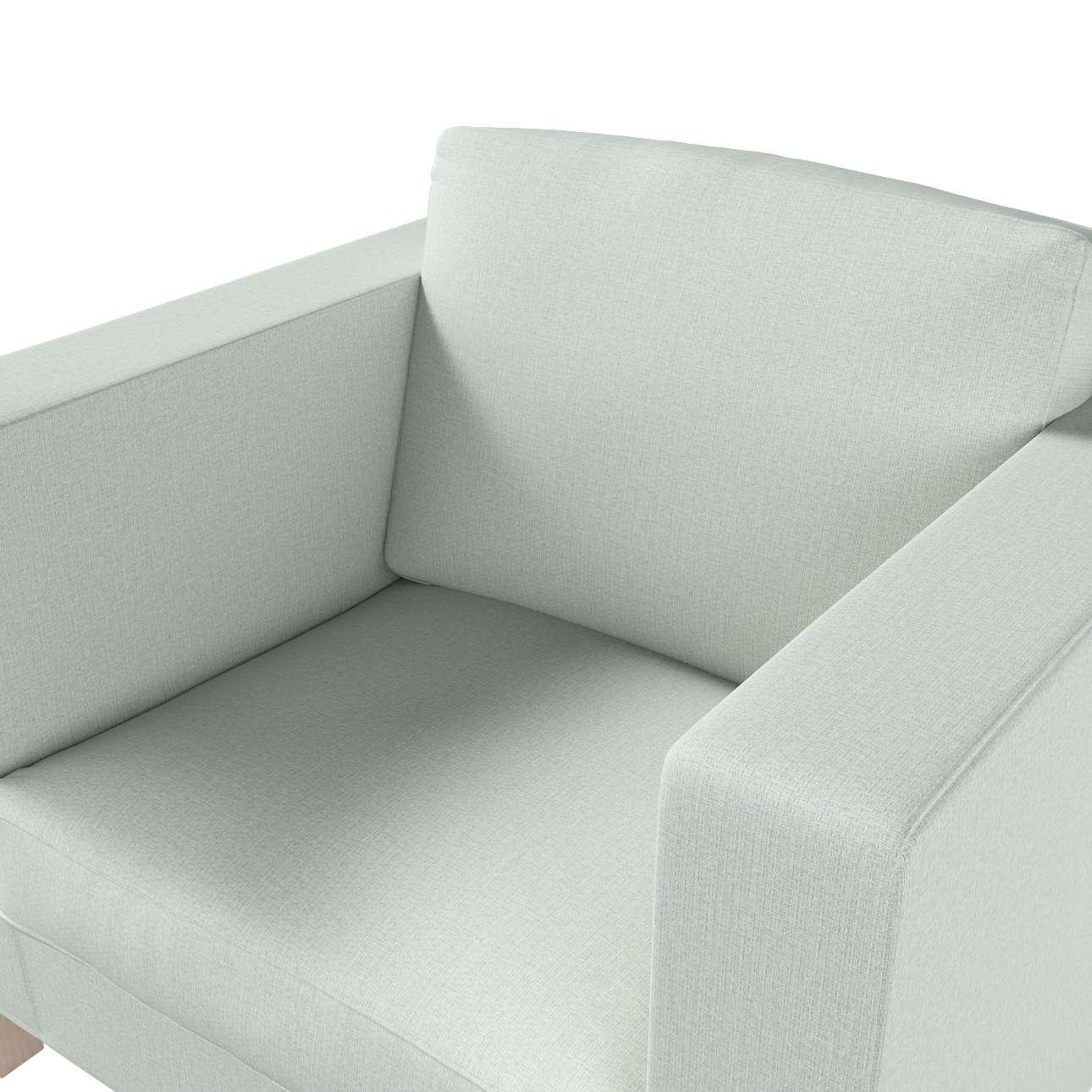 Pokrowiec na fotel Karlanda, krótki w kolekcji Living, tkanina: 161-41