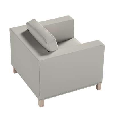 Pokrowiec na fotel Karlanda, krótki 161-54 jasny szary Kolekcja Living
