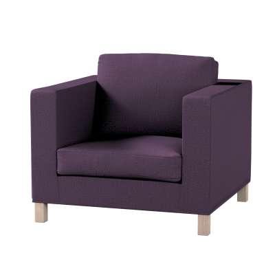 Pokrowiec na fotel Karlanda, krótki 161-67 fioletowy szenil Kolekcja Living