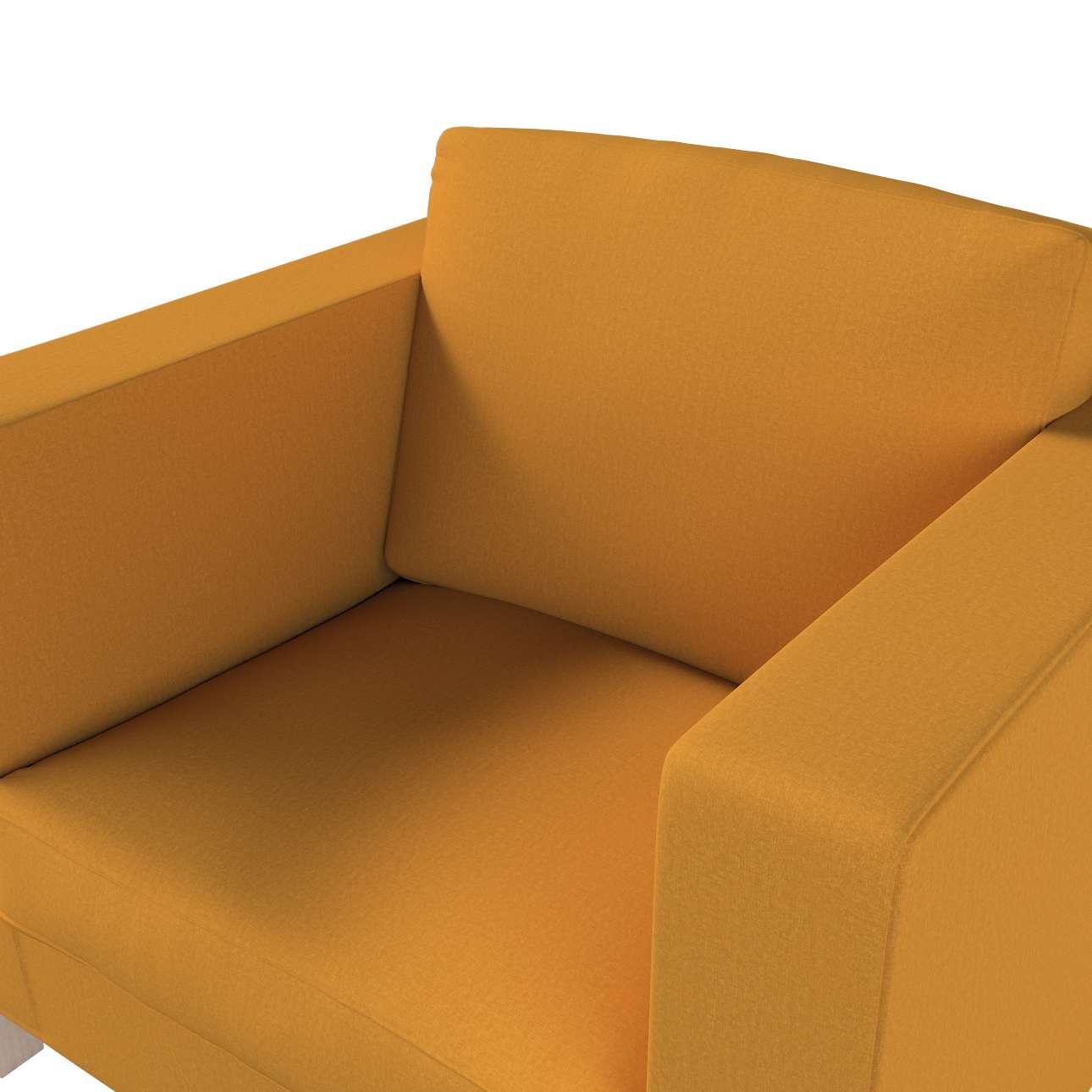 Pokrowiec na fotel Karlanda, krótki w kolekcji Living, tkanina: 161-64