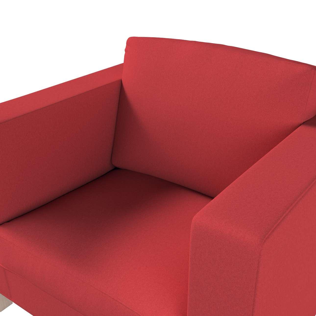 Pokrowiec na fotel Karlanda, krótki w kolekcji Living, tkanina: 161-56