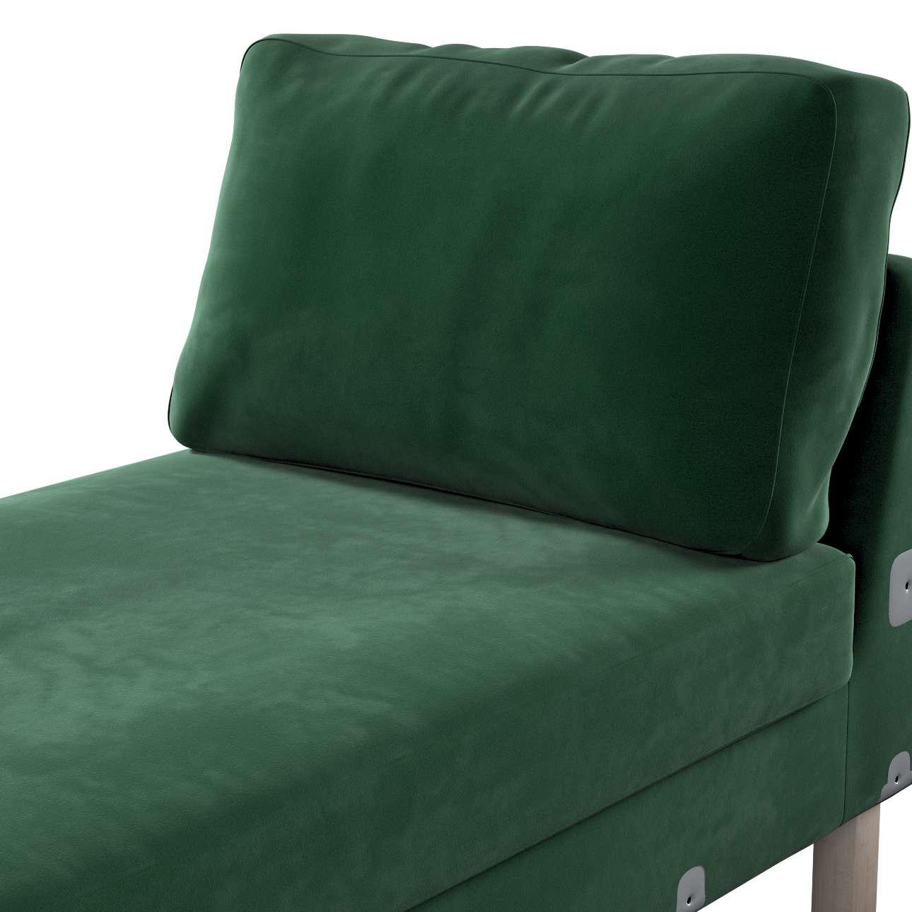 Pokrowiec na szezlong Karlstad dostawka, krótki w kolekcji Velvet, tkanina: 704-13