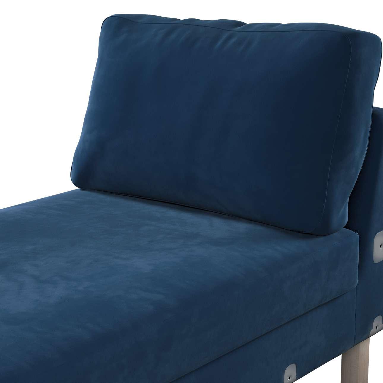 Pokrowiec na szezlong Karlstad dostawka, krótki w kolekcji Velvet, tkanina: 704-29