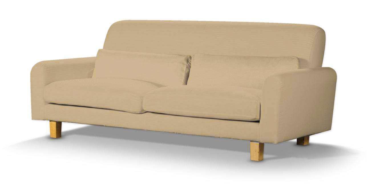 Pokrowiec na sofę Nikkala krótki w kolekcji Cotton Panama, tkanina: 702-01
