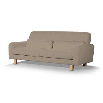 Pokrowiec na sofę Nikkala krótki w kolekcji Cotton Panama, tkanina: 702-28