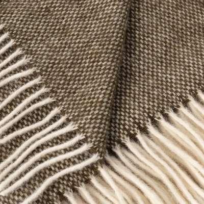 Deka Zelandia 140x200 cm kaki s krémovými strapcami