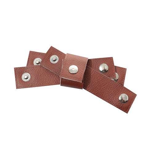 Zestaw obrączek na serwetki Eco Leather 4szt. brown