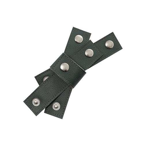 Zestaw obrączek na serwetki Eco Leather 4szt. green