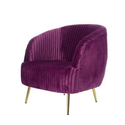 Sessel Vicky Velvet purple Glamouröse Möbel - Dekoria.de