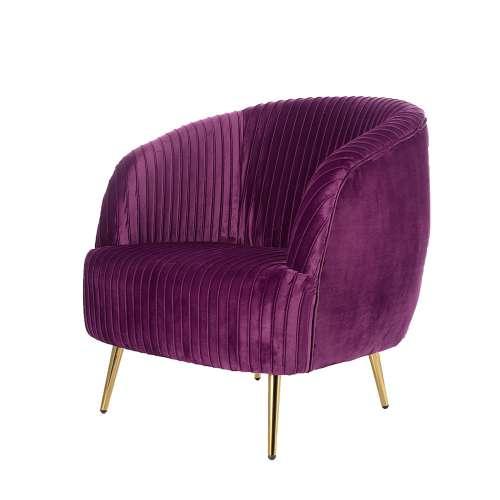 Dekoria Fotel Vicky Velvet purple