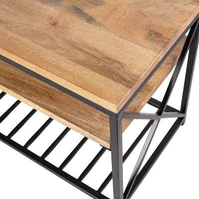 Sitzbank Jasper 115,5x40,5x52cm Industrielle Möbel - Dekoria.de
