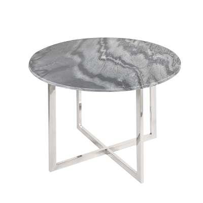 Odkládací stolek Alsea, šedý mramor, průměr 60cm Odkládací a konferenční stolky - Dekoria-home.cz