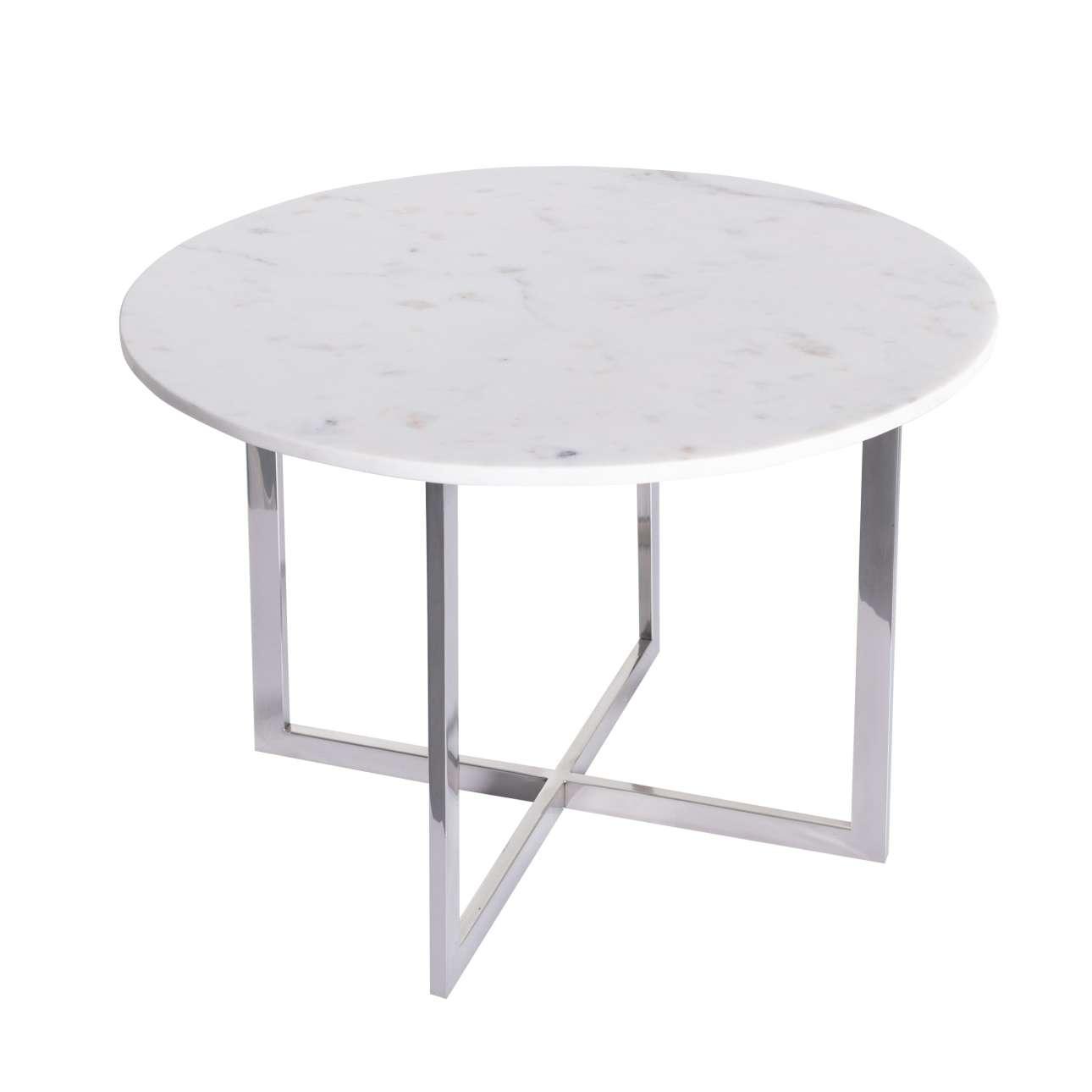 Stolek odkládací Melody, marmor, průměr 60cm