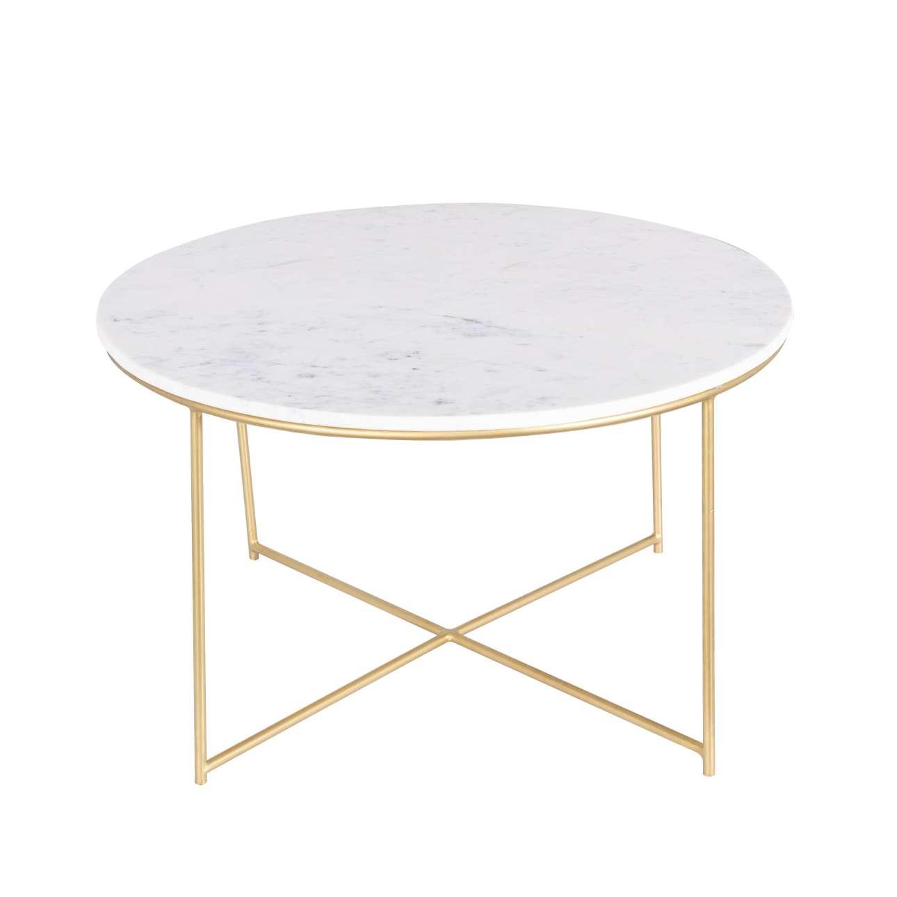 Odkládací stolek Valentina, mramor, průměr 75cm