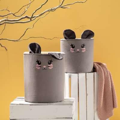 Kosz na zabawki Happy Band - Mouse 30x40cm