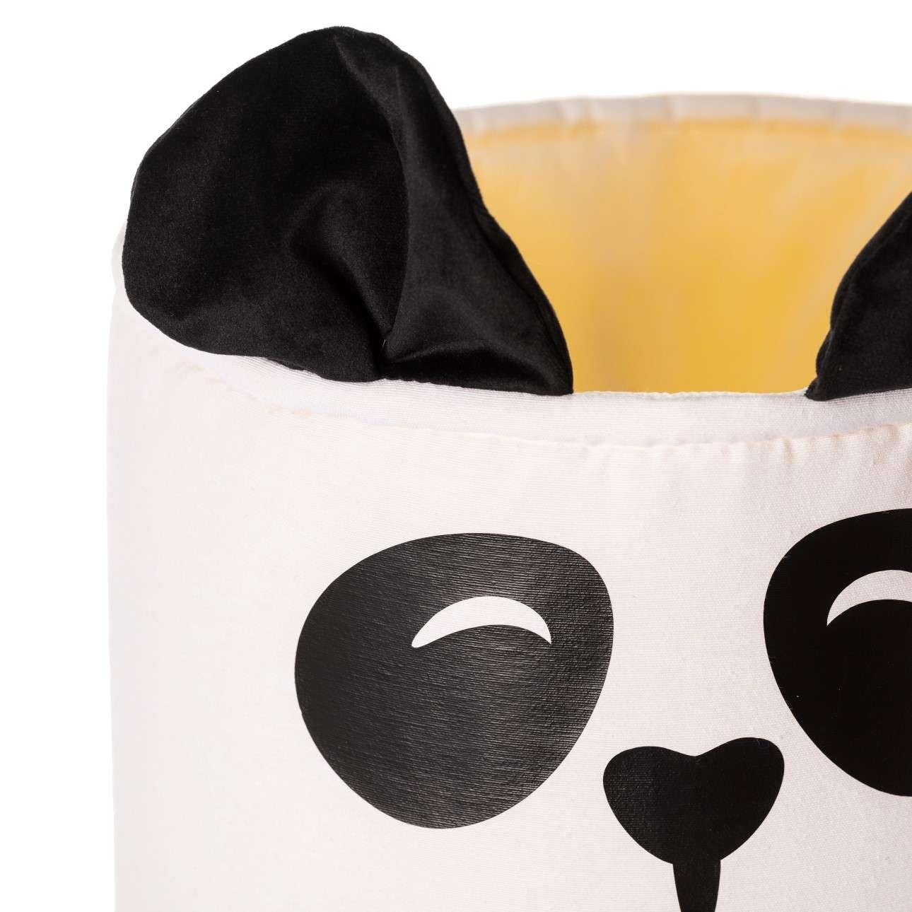 Koš na hračky Happy Band - panda 25x30cm
