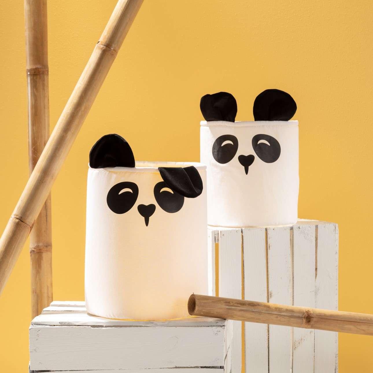 Happy Band žaislų krepšelis - Panda 25x30cm