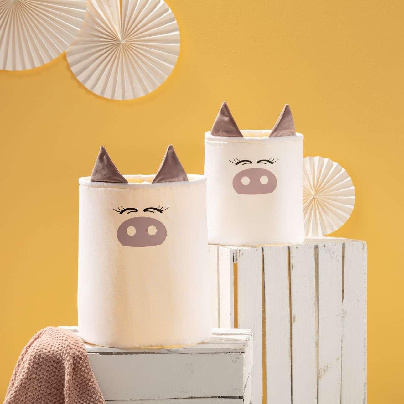 Koš na hračky Happy Band - prasátko 25x30cm