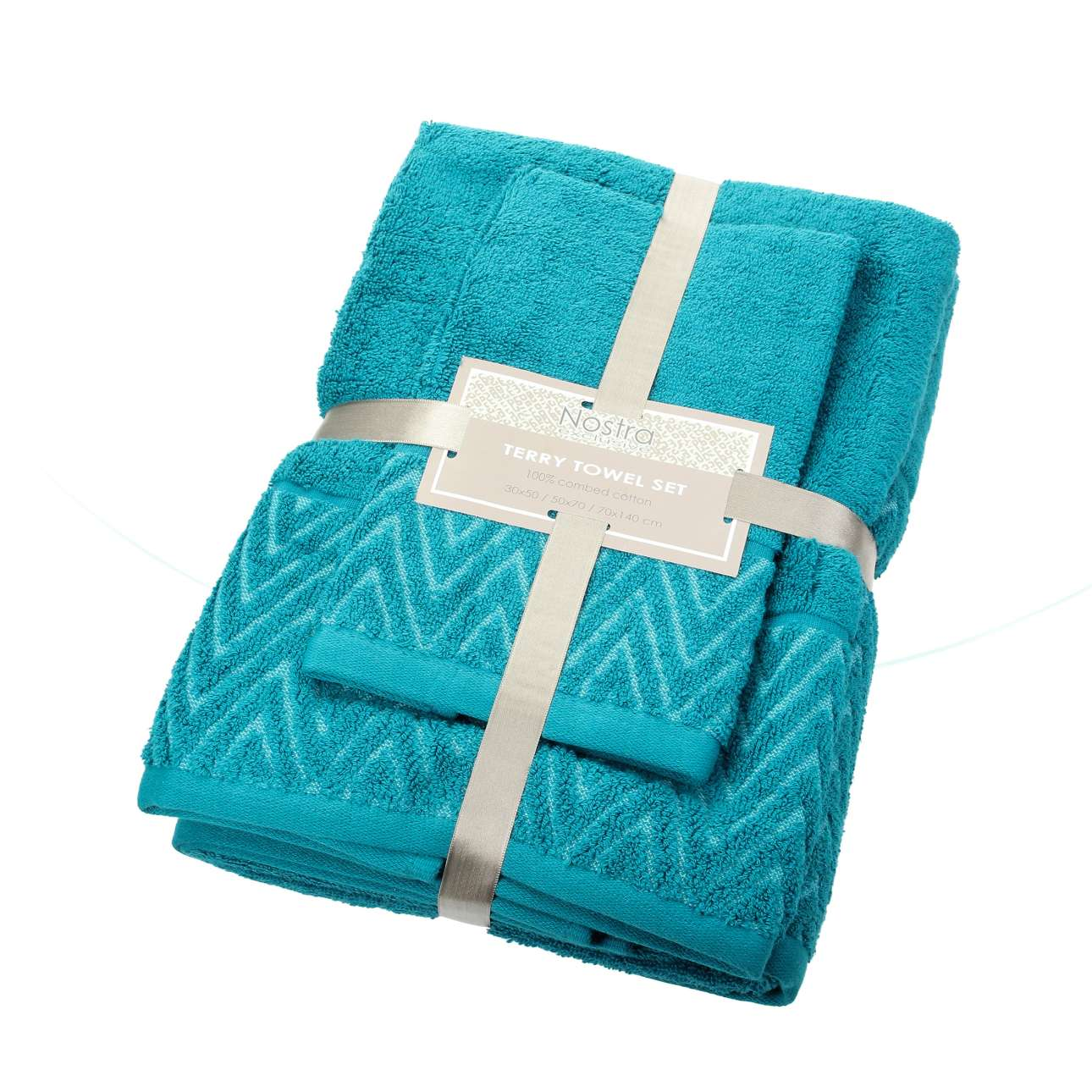 Sada 3 ks ručníků Terry caribbean blue