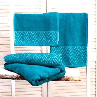Handtuch-Set Terry Caribbean Blue 3 Stck. Badtextilien - Dekoria.de