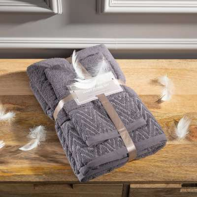 Komplet ręczników Terry 3szt. grey