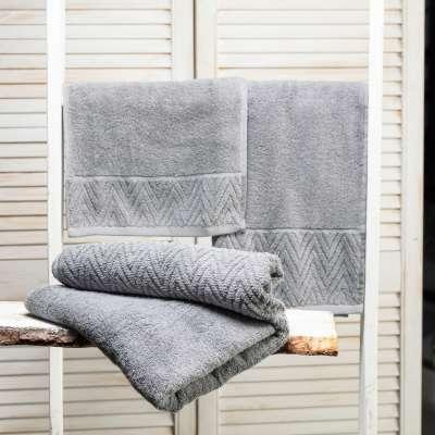 Handtuch-Set Terry 3 Stck.. light grey Badtextilien - Dekoria.de