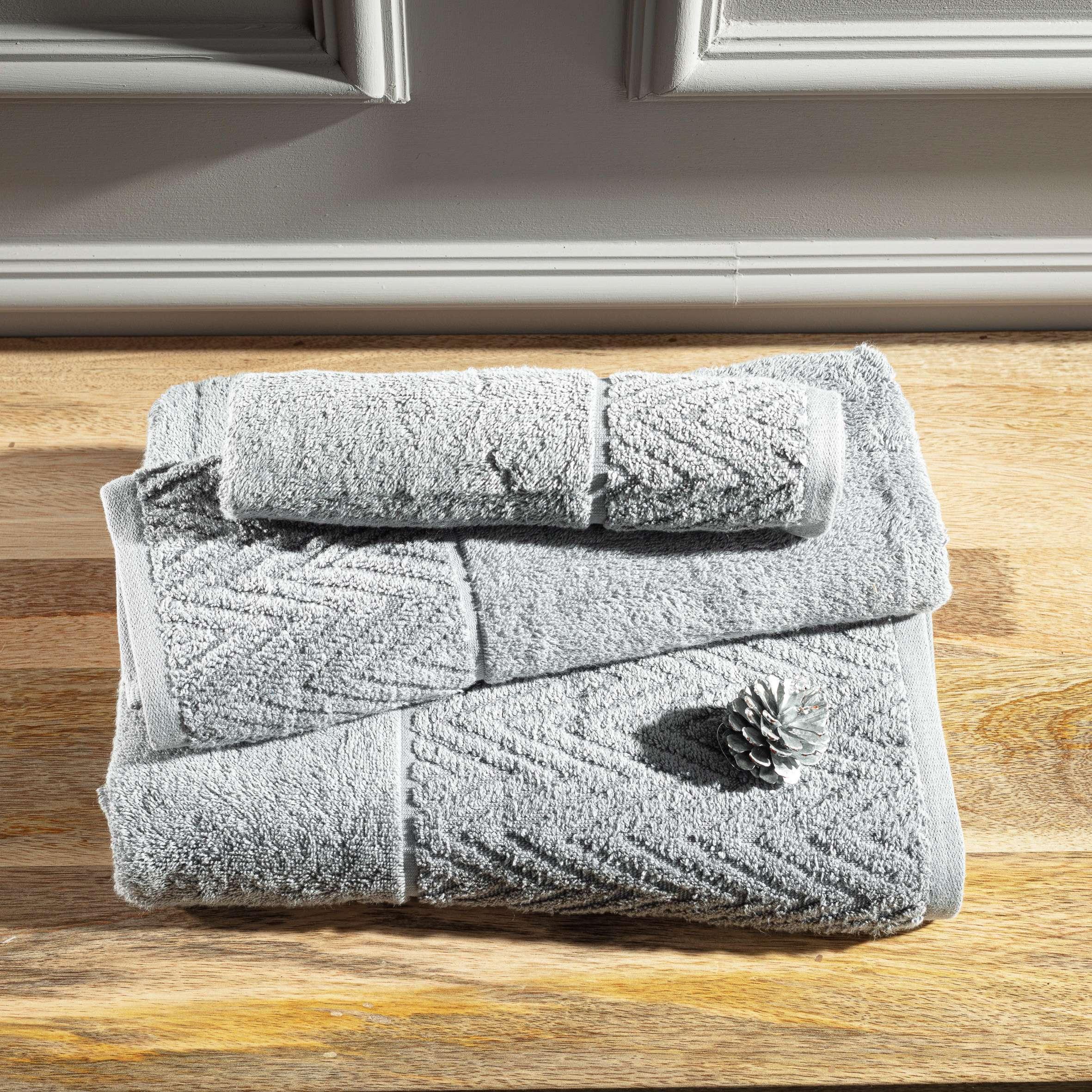 Komplet ręczników Terry 3szt. light grey