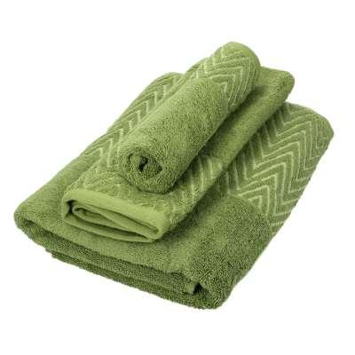 Handtuch-Set Terry 3 Stck. moss green Badtextilien - Dekoria.de