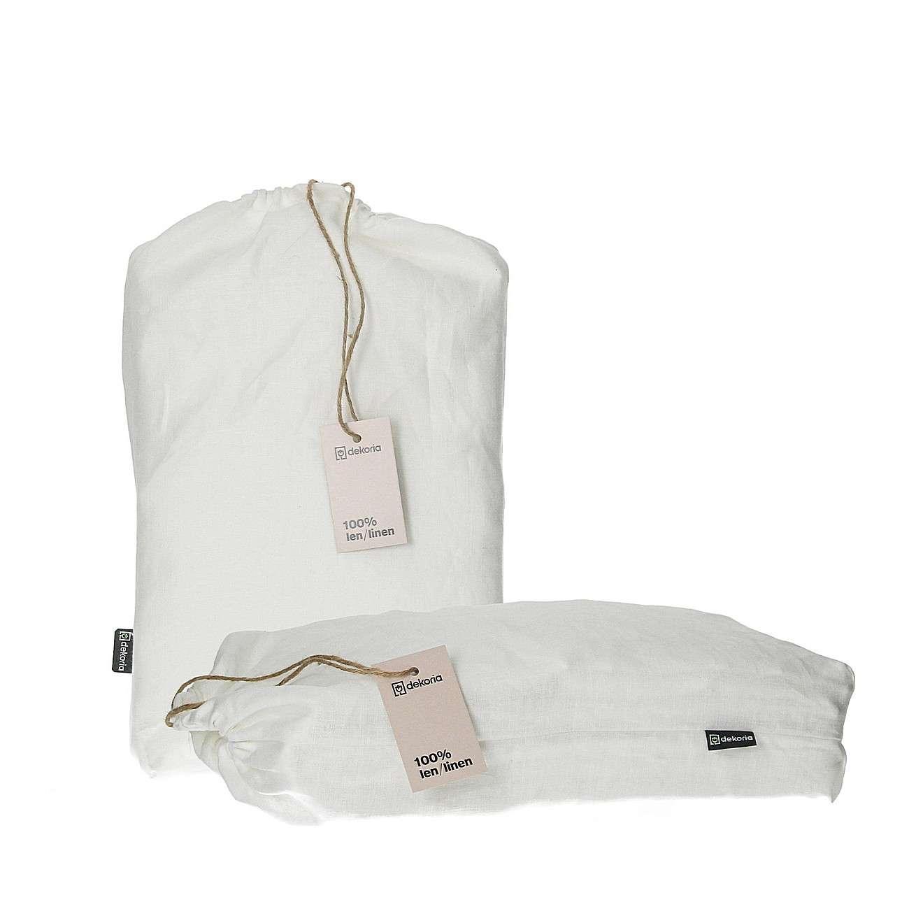 Komplet pościeli lnianej Linen 220x200cm white