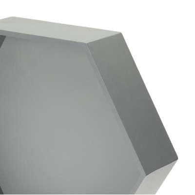 Polička Honeycomb gray 50x45x15 cm Nábytek - Yellowtipi.cz