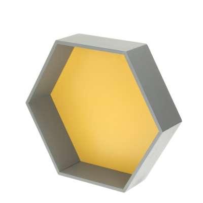 Honeycomb shelf yellow 45x35x15cm Shelves - Yellowtipi.uk