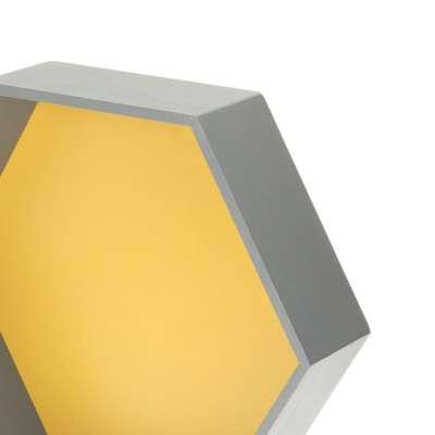Polička Honeycomb yellow 45x35x15 cm Nábytek - Yellowtipi.cz