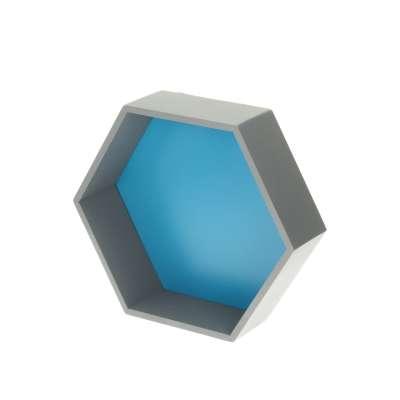Polička Honeycomb blue 35x30x12 cm Police - Yellowtipi.cz
