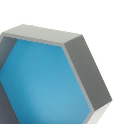 Polička Honeycomb blue 35x30x12 cm Nábytek - Yellowtipi.cz