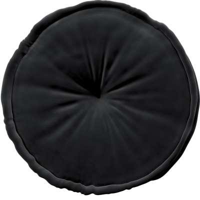 Francouzský puf 704-17 tmavě černá Kolekce Posh Velvet