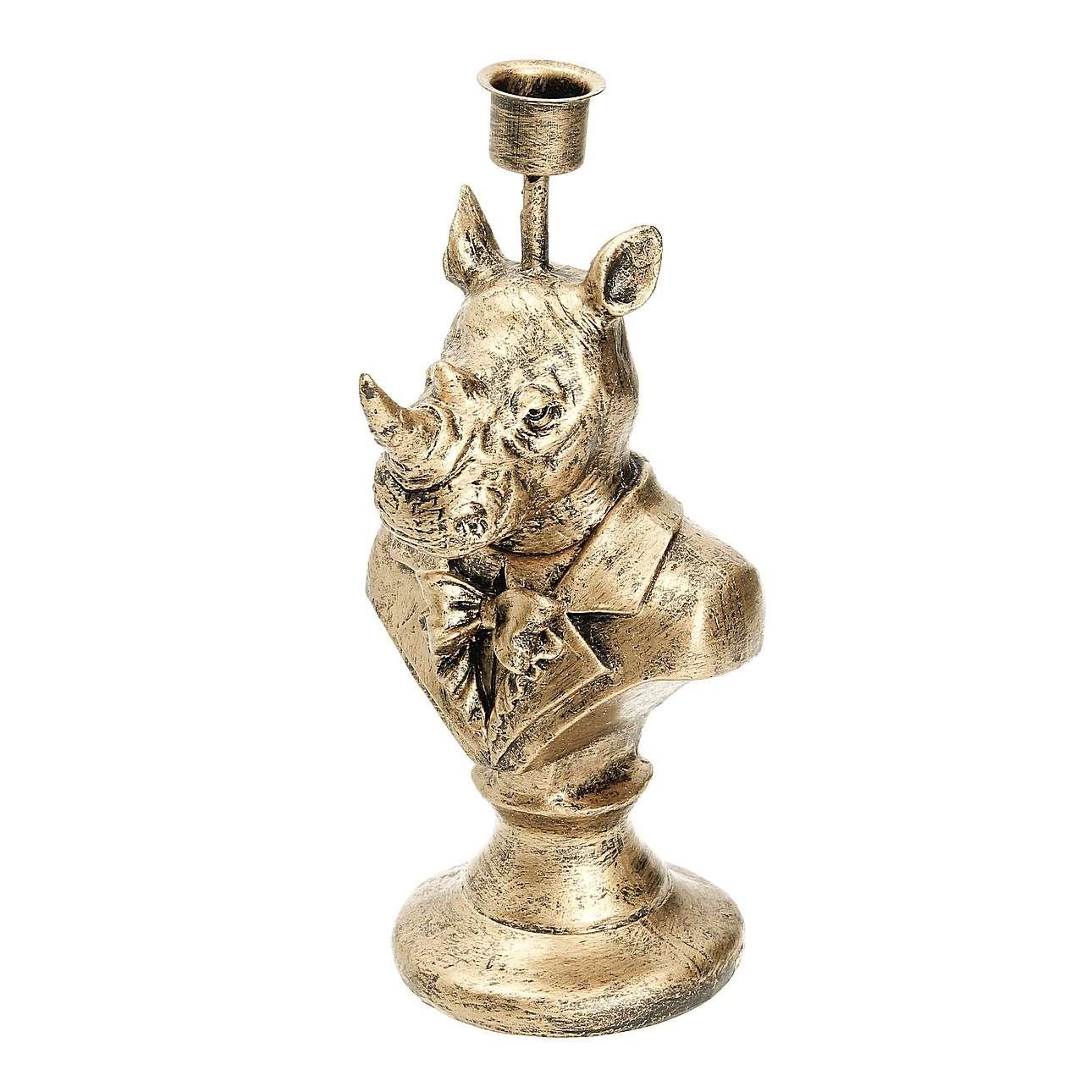 Świecznik Gold Rhino 23cm