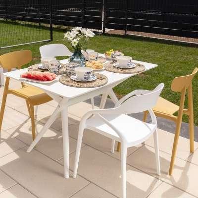 Tisch Modesto 120x80x73cm white Tische - Dekoria.de