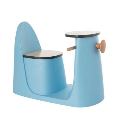 2-in-1 table chair Vespo blue Furnitures - Yellowtipi.uk