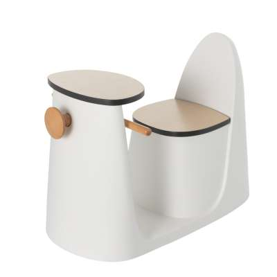 2-in-1 table chair Vespo white Furnitures - Yellowtipi.uk