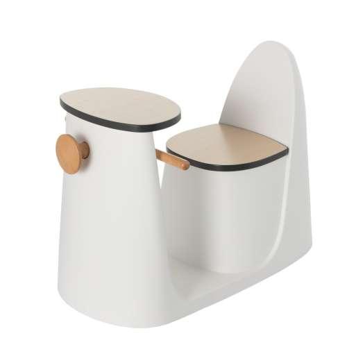 2-in-1 table chair Vespo white