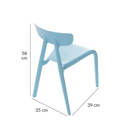 Baby chair Pico I light blue Furnitures - Yellowtipi.uk