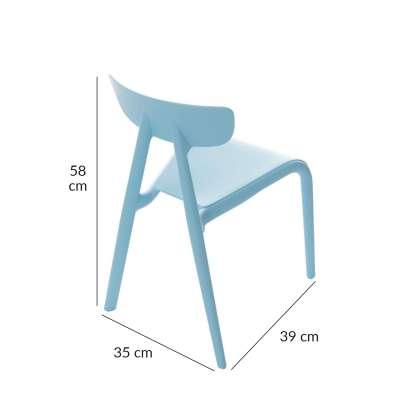 Krzesełko dziecięce Pico I light blue Krzesła - Yellowtipi.pl