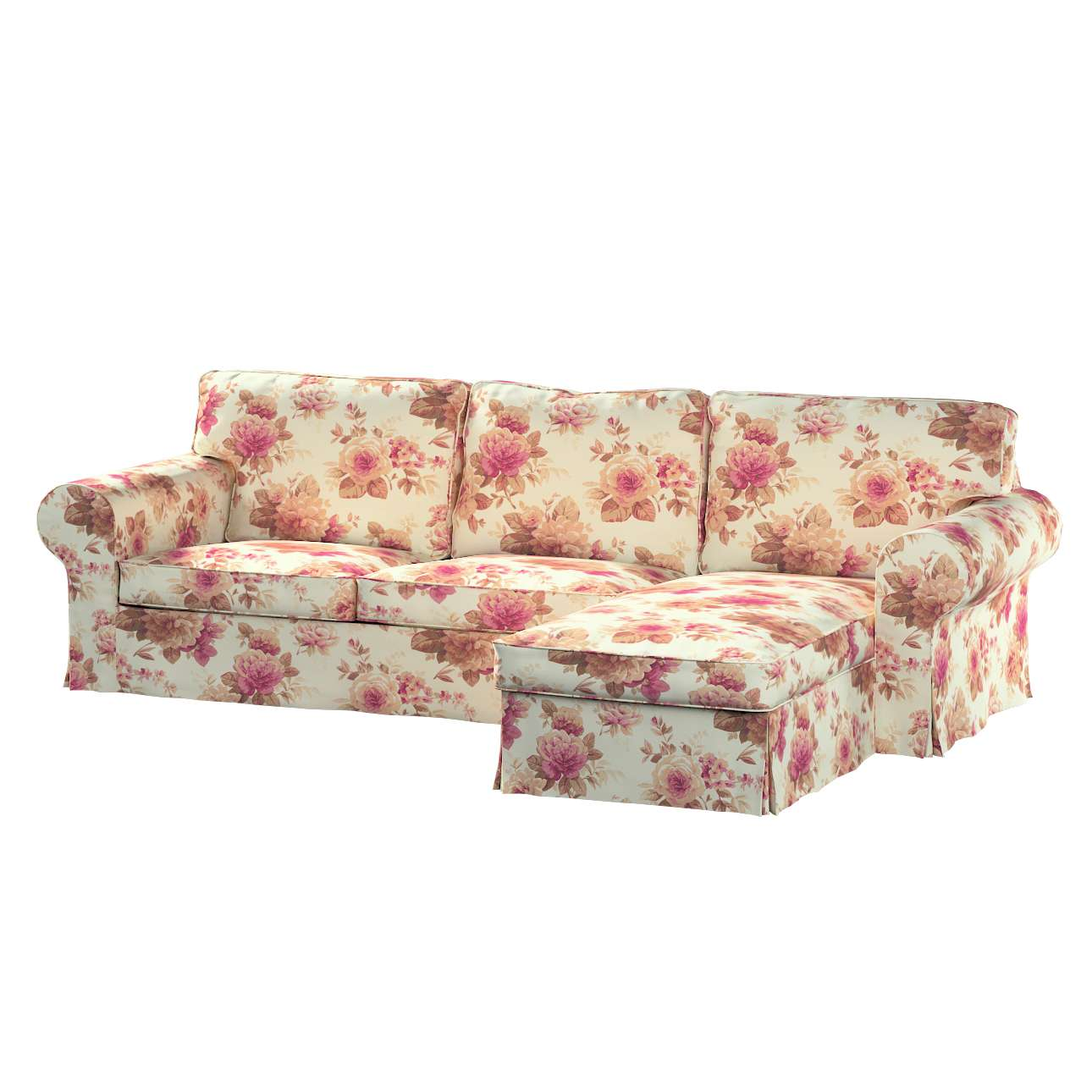 Ektorp 2-Sitzer Sofabezug mit Recamiere von der Kollektion Mirella, Stoff: 141-06