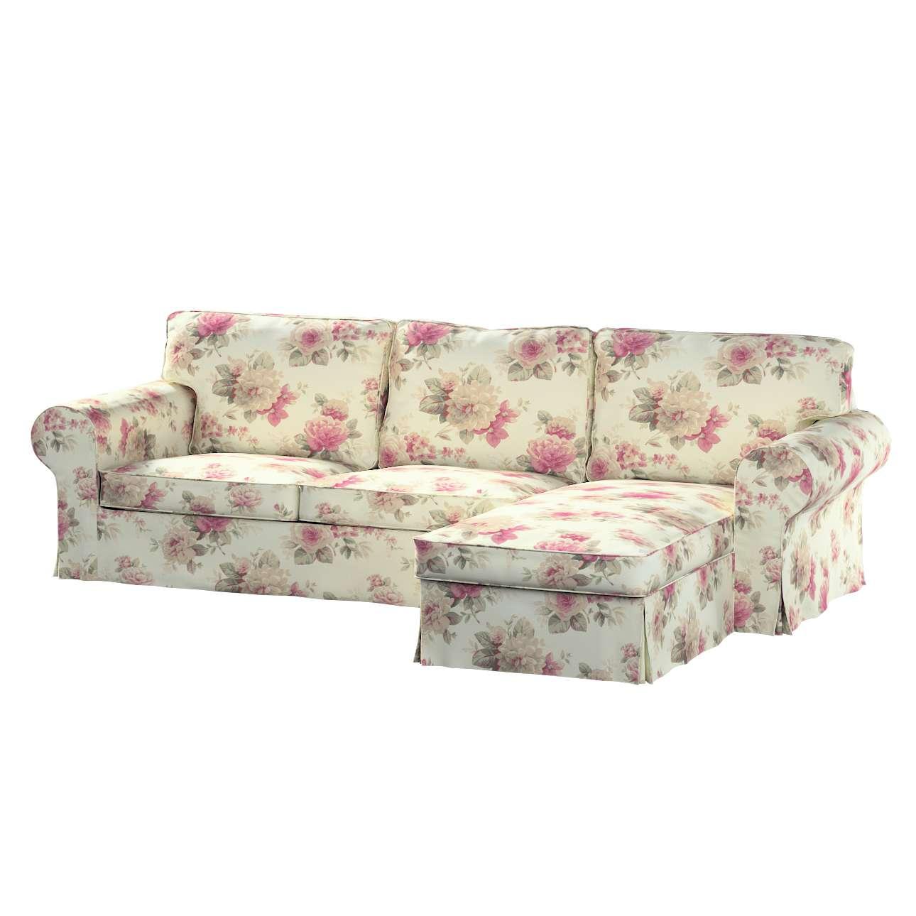 Pokrowiec na sofę Ektorp 2-osobową i leżankę sofa ektorp 2-os. i leżanka w kolekcji Mirella, tkanina: 141-07