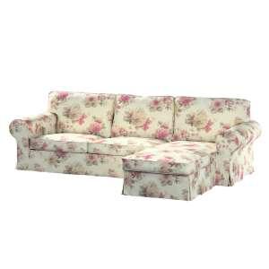 Potah na pohovku IKEA Ektorp 2-místná se šezlongem sofa ektorp 2-0s. i leżanka v kolekci Mirella, látka: 141-07